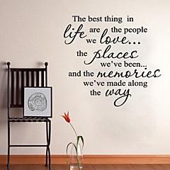 ord siterer vegg klistremerker den beste kunsten hjem dekorasjon Veggdekor 60 x 60cm