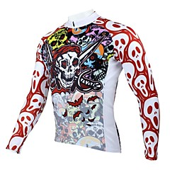 PALADIN Bike/Cycling Jersey / Tops Men's Long Sleeve Breathable / Ultraviolet Resistant / Quick Dry / Thermal / WarmPolyester / 100%