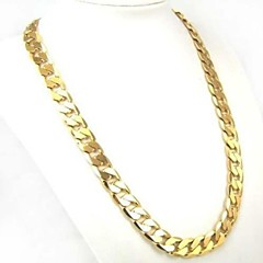 Necklace Chunky Link Gold Chain Necklace Alloy Men's Jewelry Gift for Men/Women 60cm 1pc
