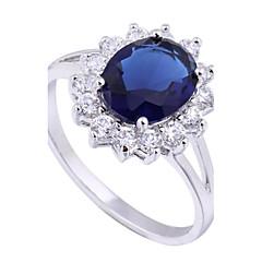 nuevo oro de la llegada de las mujeres plateado caliente vendiendo anillos circón ovales elegantes