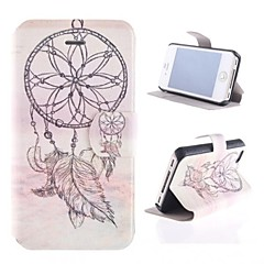 Windbell Pattern PU Full Body Case with Card Slot and Stand for iPhone 4/4S
