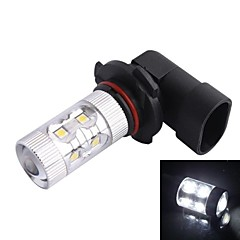 9005 / HB3 60W 12xLED SMD 650LM 6500K White Light LED Car Sumuvalojen Ajovalojen (DC12-24V)