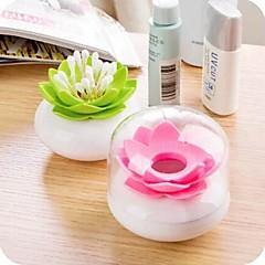 Lotus Forma Tenedores de plástico Tapones de algodón (color surtidos)
