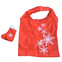 Eco-Friendly Snowflower Pattern Folding Shopping Bag(Random Color)