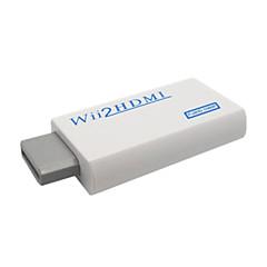 ממיר Wii נייד ל HDMI 720P\1080P עם HDMI זכר לזכר (צבע לבן)