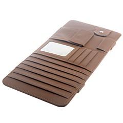 Auto-Innensonnenblende Multifunktions-PU-Leder-DVD Case CD Ordner Tasche - Braun