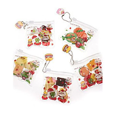 Cute Meal Fruits Shaped Rubber Happy Day Fancy Erasers (Random Style)