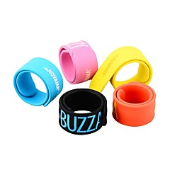 Sports Silicone Mosquito Repeller Slap Wrist Band (Assorted Colors)