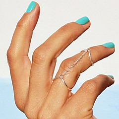 Shixin® Fashion Silver V Shape Midi Ring(1 Pc)