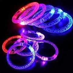 LED  Flashing Bracelet Design Plastic Party LED Light Stick(Random Color x1pcs)