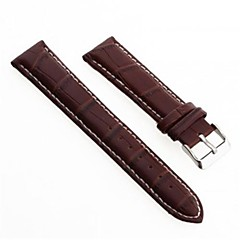 Unisex's PU Leather Watch Band Strap 200MMx20MMx3MM (Brown)