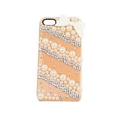 papillons et perles plastique de cas difficile pour iPhone 4 / 4S (couleurs assorties)