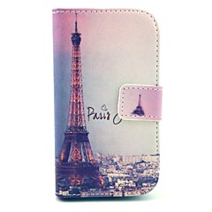 Eiffel Tower Pattern PU Leather Cover Case with Stand for Samsung Galaxy Ace 3 S7272/S7275