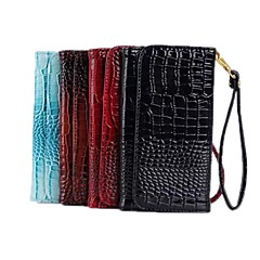 Crocodile PU Leather Wallet PU Leather Protective Case with Stand for Sansung S3/S4/S5 And Note2/Note3
