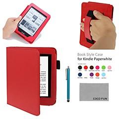 coco fun® pu futerał z paskiem na rękę, folia na wyświetlacz i rysik do wszystkich Amazon Kindle Paperwhite