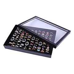 klassiska trevlig en hundra uppsättningar vinge smycken omslaget står multicolor akryl smycken lådor (1 st) (svart, vit)