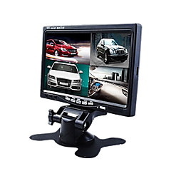 7 monitor do carro polegada frontal / retrovisor com 4 câmeras