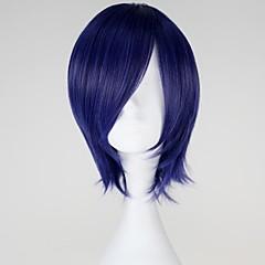 Cosplay Pruiken Tokyo Ghoul Kirishima Touka Blauw Kort Anime Cosplay Pruiken 32 CM Hittebestendige vezel Vrouwelijk