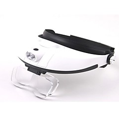 Multiple Lens Two-way Regulation Head-Wearing Magnifier with 2-LED Light (3 x AAA)