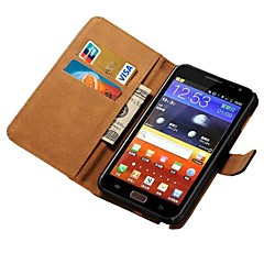 Genuine Leather Case for Samsung Galaxy Note N7000 I9220 Wallet Style