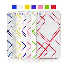 Angibabe Check Plaid Pattern Jelly Gel TPU Soft Clear Transparent Case for iPhone 4/4S