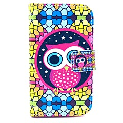 Colorful Puzzle with Owl Pattern PU Leather Cover Case with Stand for Samsung Galaxy Star Pro S7262