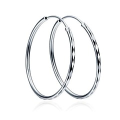 Earring Hoop Earrings Jewelry Women Party / Daily / Casual Sterling Silver Silver