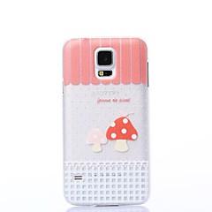 Color Decoration Two Mushrooms Pattern Plastic Hard Case for Samsung S5 I9600