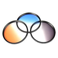 vert l filtre pour canon / nikon 18-200 lentille de 83mm (gris, bleu, orange)