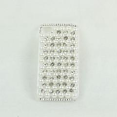 plastique de perles brillantes étui rigide transparent pour iPhone 4 / 4S