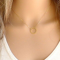Women's Pendant Necklaces Jewelry Alloy Fashion Simple Style Gold Silver Jewelry For Party Halloween Daily Casual 1pc