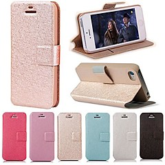 DF Smooth Silk Pattern with Card Bag PU Full Body Case for iPhone 4/4S(Assorted Color)
