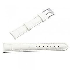 PU Leather Watch Band Strap 18MM (White)