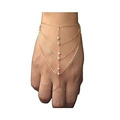 Bransoletka z pierścionkiem - Codzienny (Stop/Kryształ górski)