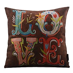 kolorowe lovecotton / Linen pokrycie dekoracyjne poduszki