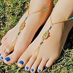 Kadın Ayak bileziği/Bilezikler alaşım imitasyon Pırlanta Eşsiz Tasarım Moda Mücevher Altın Bayanlar Mücevher Günlük 1pc