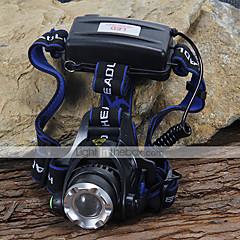 Belysning Pandelamper LED 1200 Lumens 3 Tilstand Cree XM-L T6 18650 Camping/Vandring/Grotte Udforskning / Cykling / KlatringAluminiums