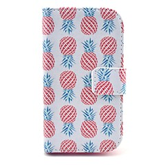 Pineapple Pattern PU Leather Cover Case with Stand for Samsung Galaxy Ace 3 S7272/S7275