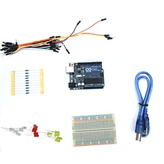 Kit de inicio r3 Uno 16hertz con breadboard llevó usb resistencia para arduino
