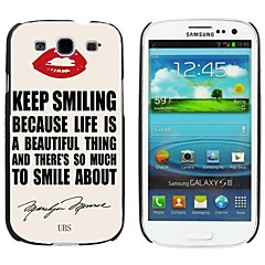 Milocos ™Red Lip And Marilyn Monroe's QuoteHard Case for Samsung Galaxy S3 i9300