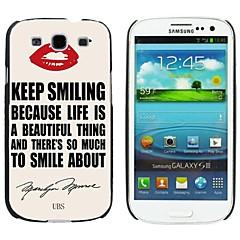 milocos ™ lábio vermelho e caso quotehard de Marilyn Monroe para i9300 Samsung Galaxy S3
