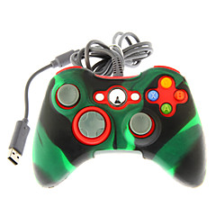 verdrahtet Dual Shock Controller mit Silikon Skin Cover für Xbox 360