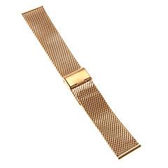 22mm hoge kwaliteit elegante rose goud roestvrij staal horlogeband