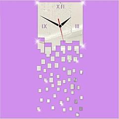 שעון קיר squaremirror סדיר אקריליק החדש בסגנון מודרני DIY 3d