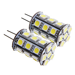 G4 3W 24x5050SMD 260-290LM Warm White/White Light LED Corn Bulb (12V 2PCS)