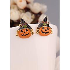 calabaza de halloween oro 18k plateó los pendientes para las mujeres en la joyería