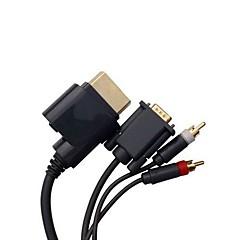 vídeo hd hdtv audio cable vga cable av rca para xbox 360 microsoft consola