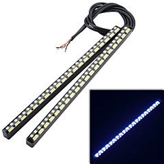 Dual Color 5W 450LM 50LED White Light + Yellow Flashing Turn Light Daytime Running Lamp (2Pcs)