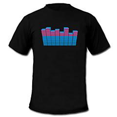 sonido y la música activa el visualizador vu bailarín espectro t-shirt (2 * aaa)