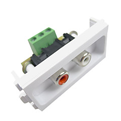 LY-LINK LY-024 86 Model Audio Socket Audio Panel - White